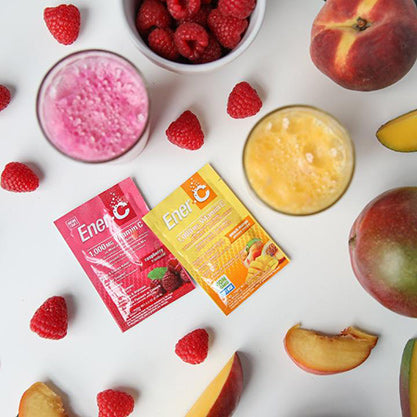 Ener-C Raspberry & Peach Multivitamin and Electrolyte Drink Mix Packs