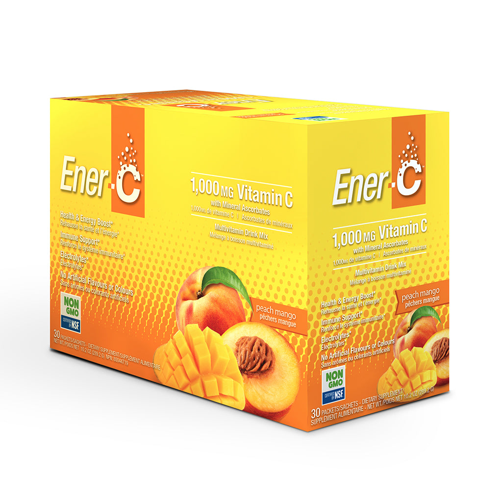 Ener-C Peach Mango Multivitamin Drink Mix – 30 Packet Box