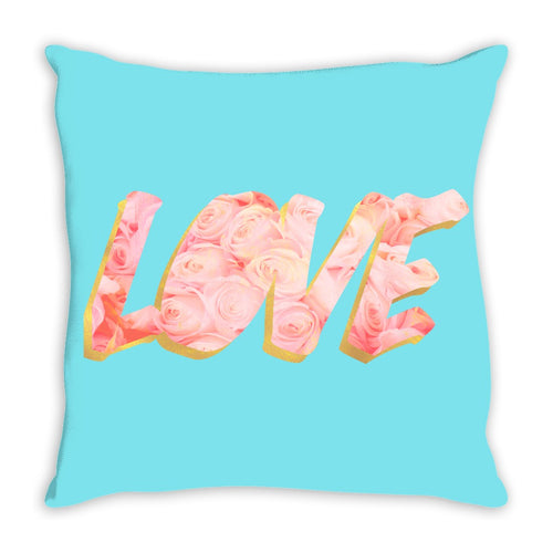 LOVE In Roses Throw Pillow