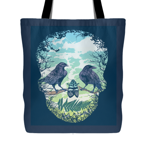 Nature Skull Tote Bag