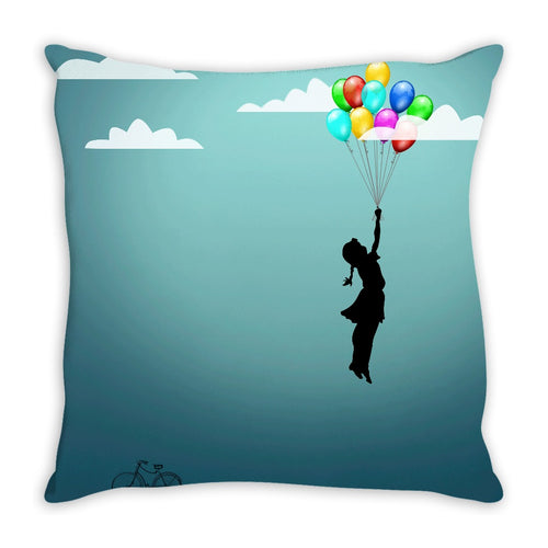 Flying Balloons Throw Pillow