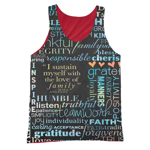 Family Values Sublimated Cut & Sew Tank