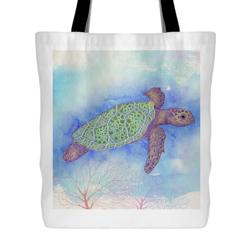 Bright Sea Turtle Tote Bag