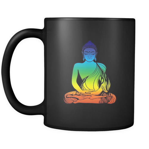 Buddha Black 11oz Coffee Mug