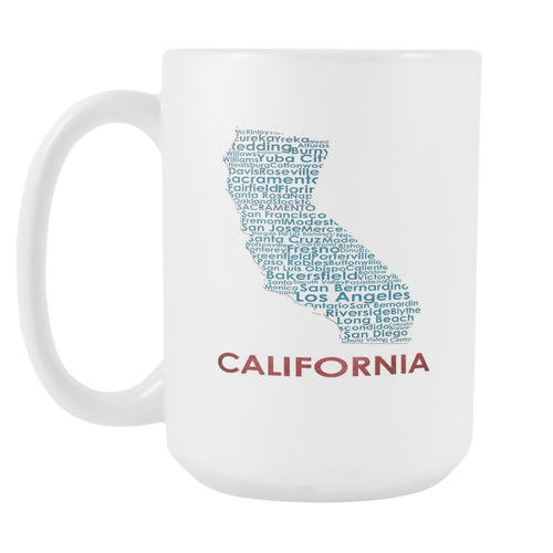California White 15oz Coffee Mug