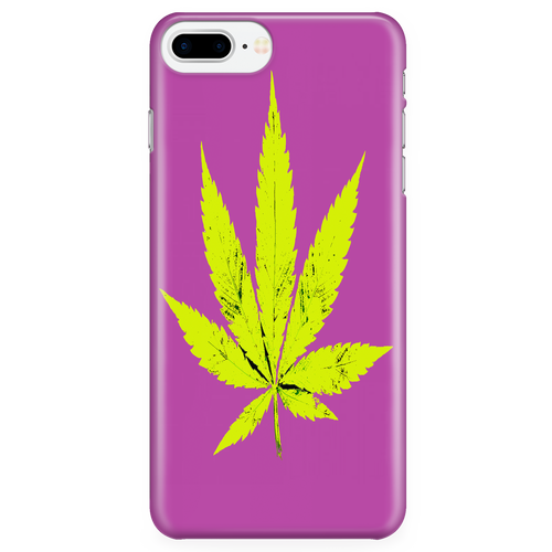 Yellow Leaf Purple Background Phone Case
