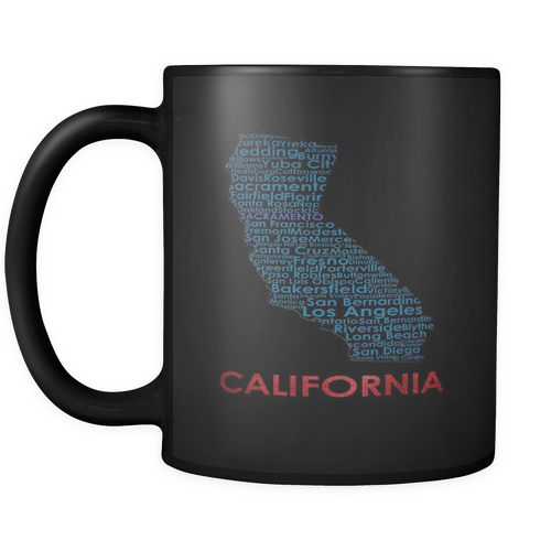 California Black 11oz Coffee Mug