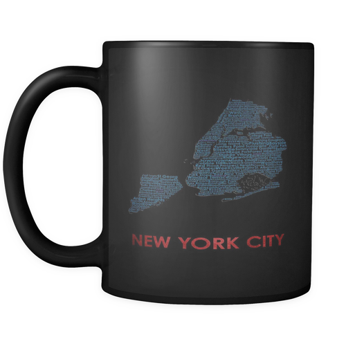 New York City Black 11oz Coffee Mug