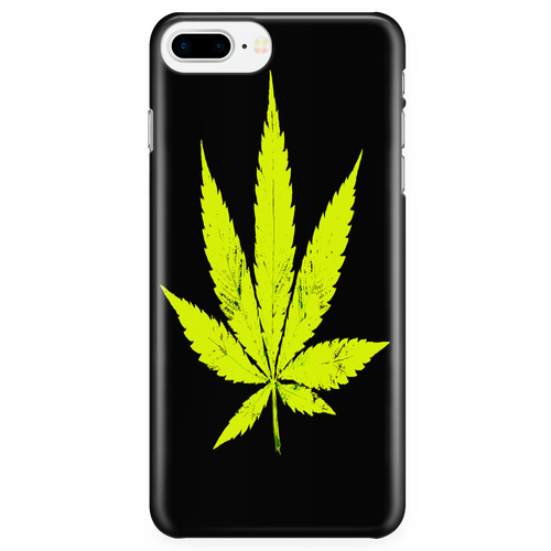 Yellow Leaf Black Background Phone Case