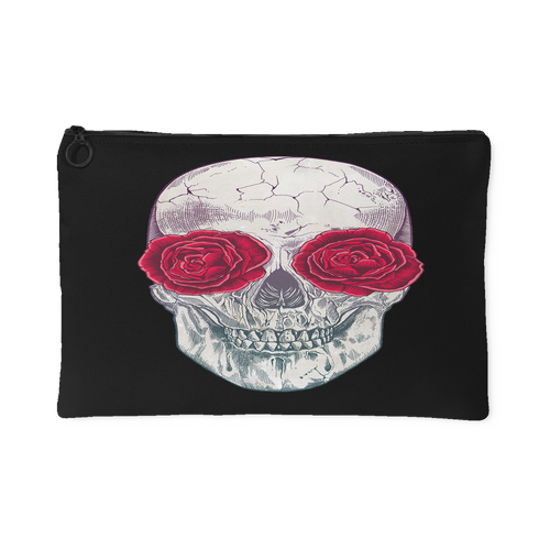 Skull Roses Accessory Pouch