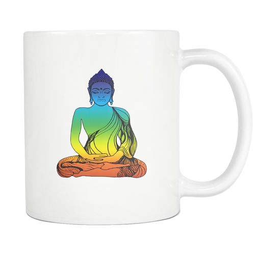 Buddha White 11oz Coffee Mug