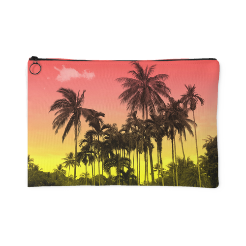 Sunset Palm Accessory Pouch