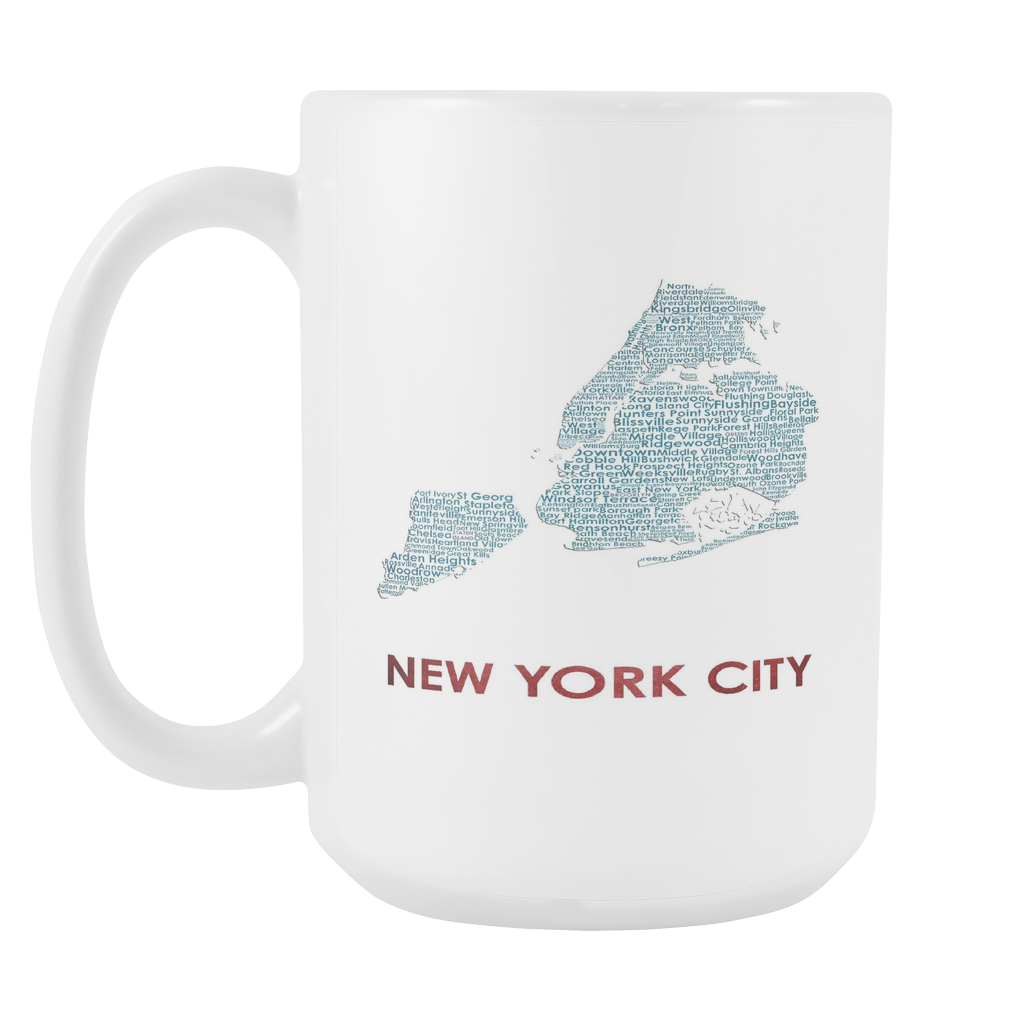 New York City White 15oz Coffee Mug