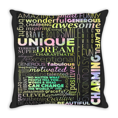 Positivity Can Change The World Throw Pillow