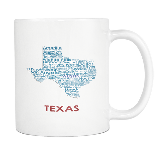 Texas White 11oz Coffee Mug