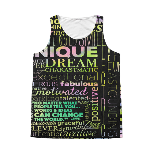 Positivity Can Change The World All Over Print Tank