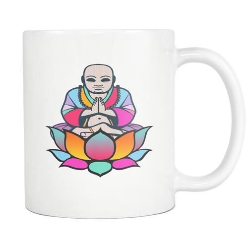 Lotus Buddha White 11oz Coffee Mug