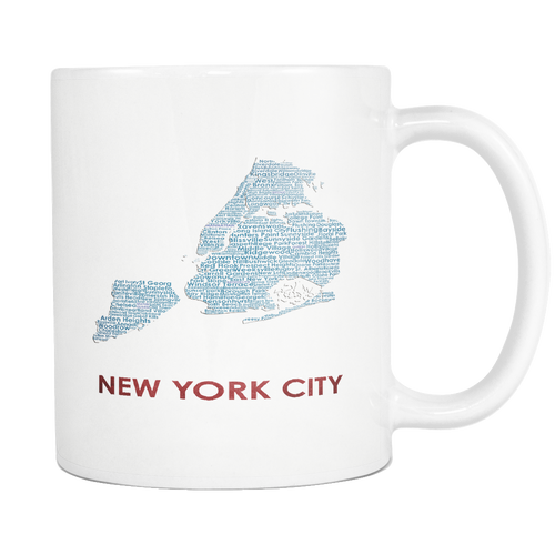 New York City White 11oz Coffee Mug