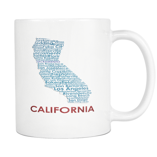 California White 11oz Coffee Mug