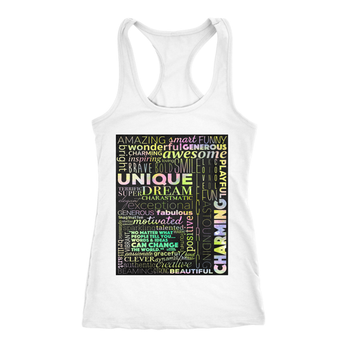 Positivity Can Change The World Racerback Tank