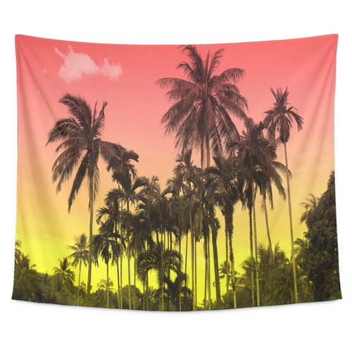 Sunset Palm Tapestry