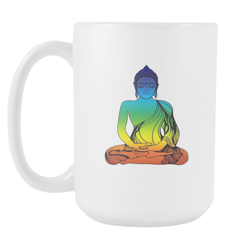Buddha White 15oz Coffee Mug