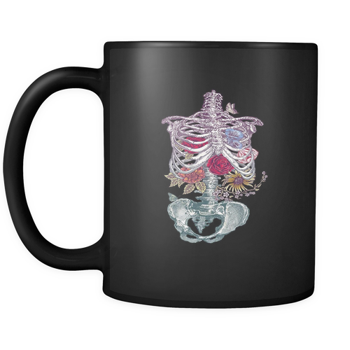 Flowers From Within Black 11oz Coffee Mug