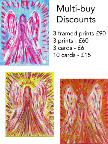 Mulitbuy Angel Cards and Prints