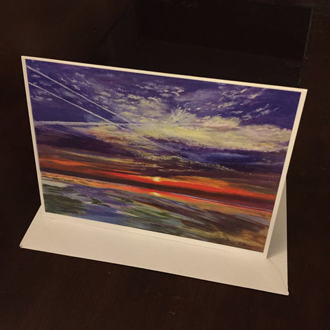 Vapour Trails  - Greeting Card