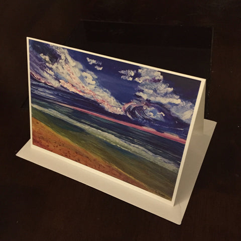 Violet sky  - Greeting Card