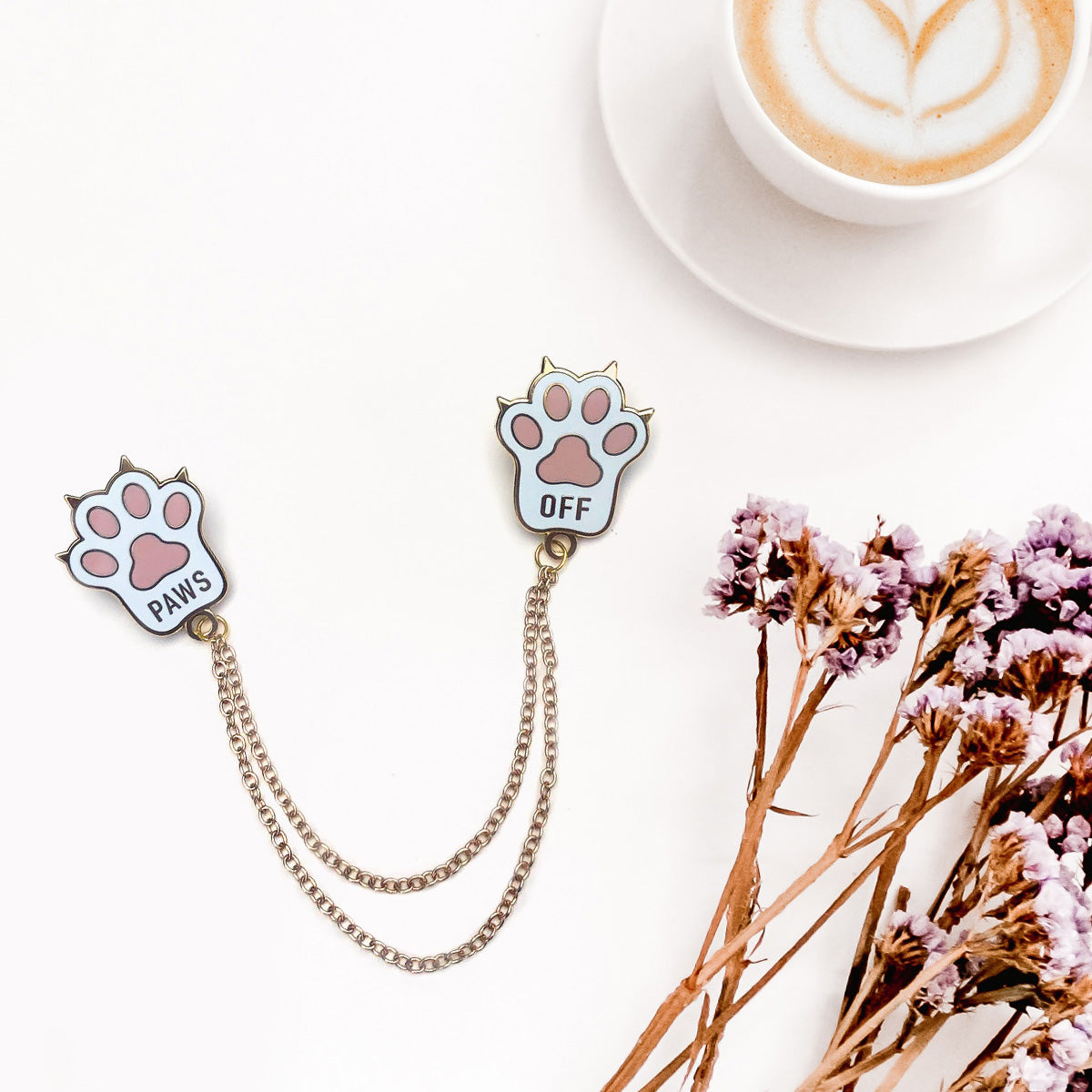 Paws Off- Collar Pins
