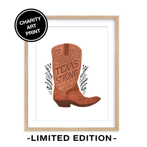 Texas Strong - Charity Art Print