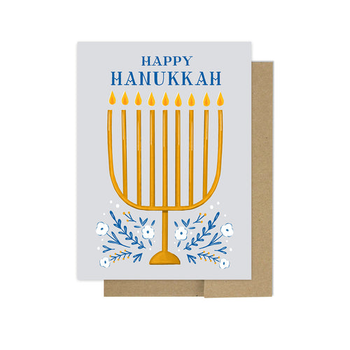 Hanukkah Menorah - Holiday Card