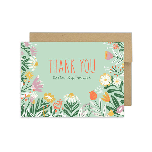 Lovely Floral - Thank You Card