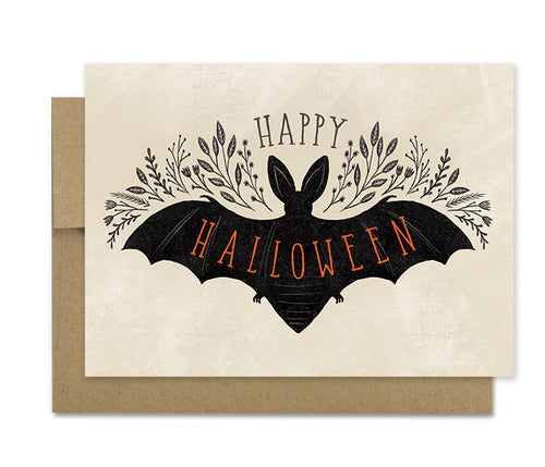 Halloween Bat- Holiday Card
