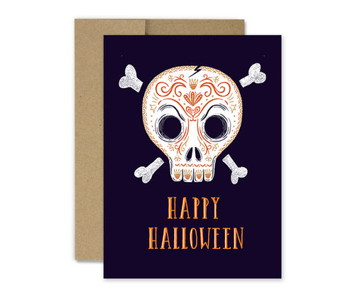 Sugar Skull - Halloween Card