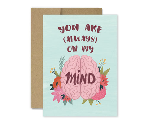 On My Mind - Greeting Card