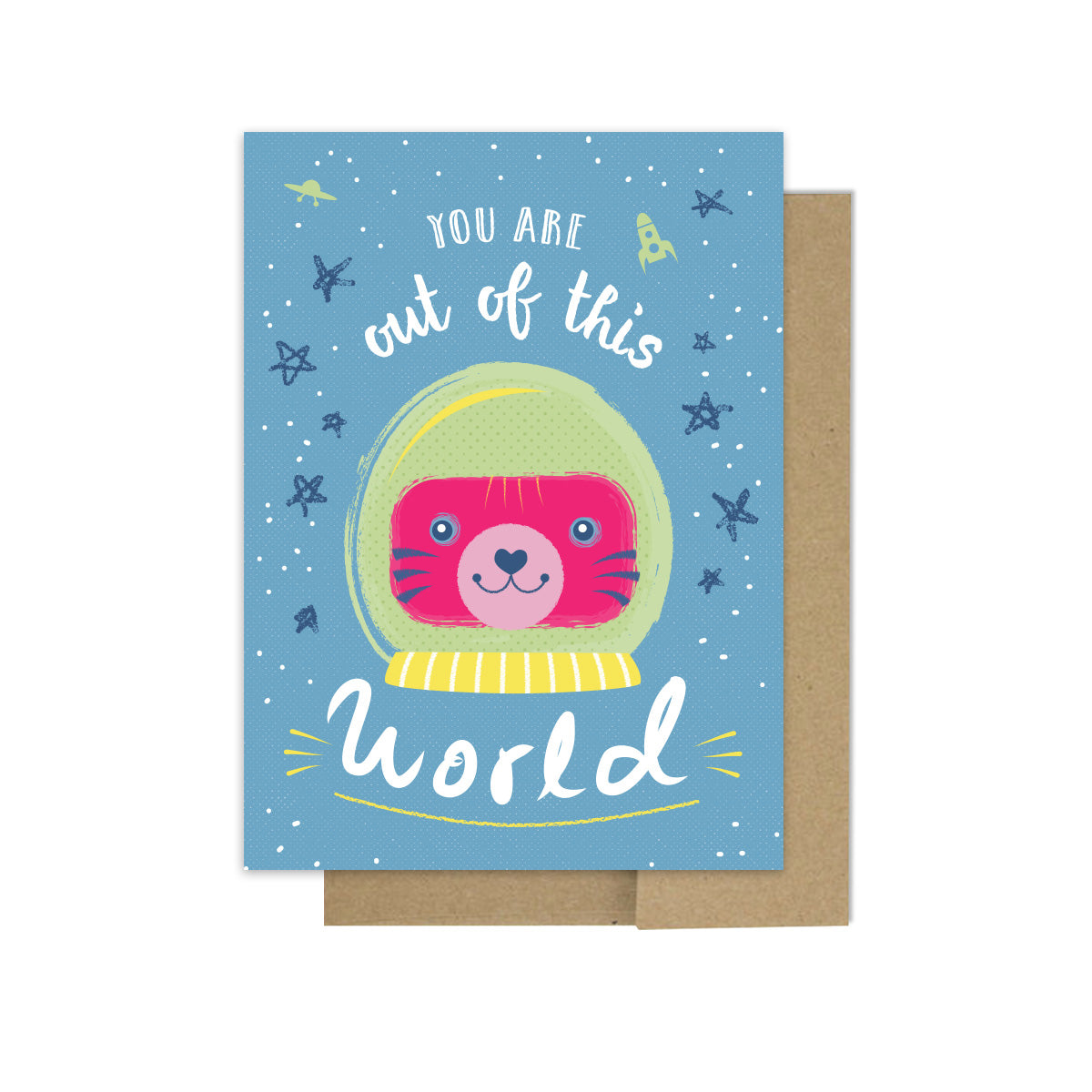 Out of This World - Greeting Card