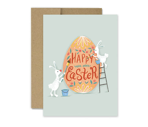 Painted Egg - Easter Holiday Card