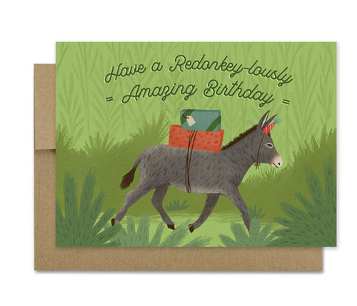 Redonkeylous - Birthday Card