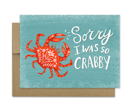 Crabby- Sorry Sympathy Card