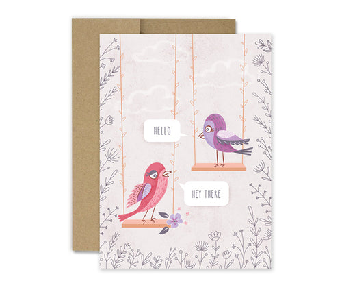 Hello Bird - Greeting Card