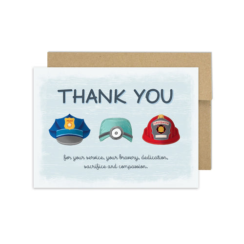 Thank You Heroes - Greeting Card