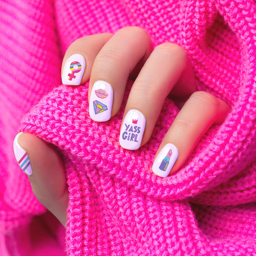 Girl Power Nail Decals