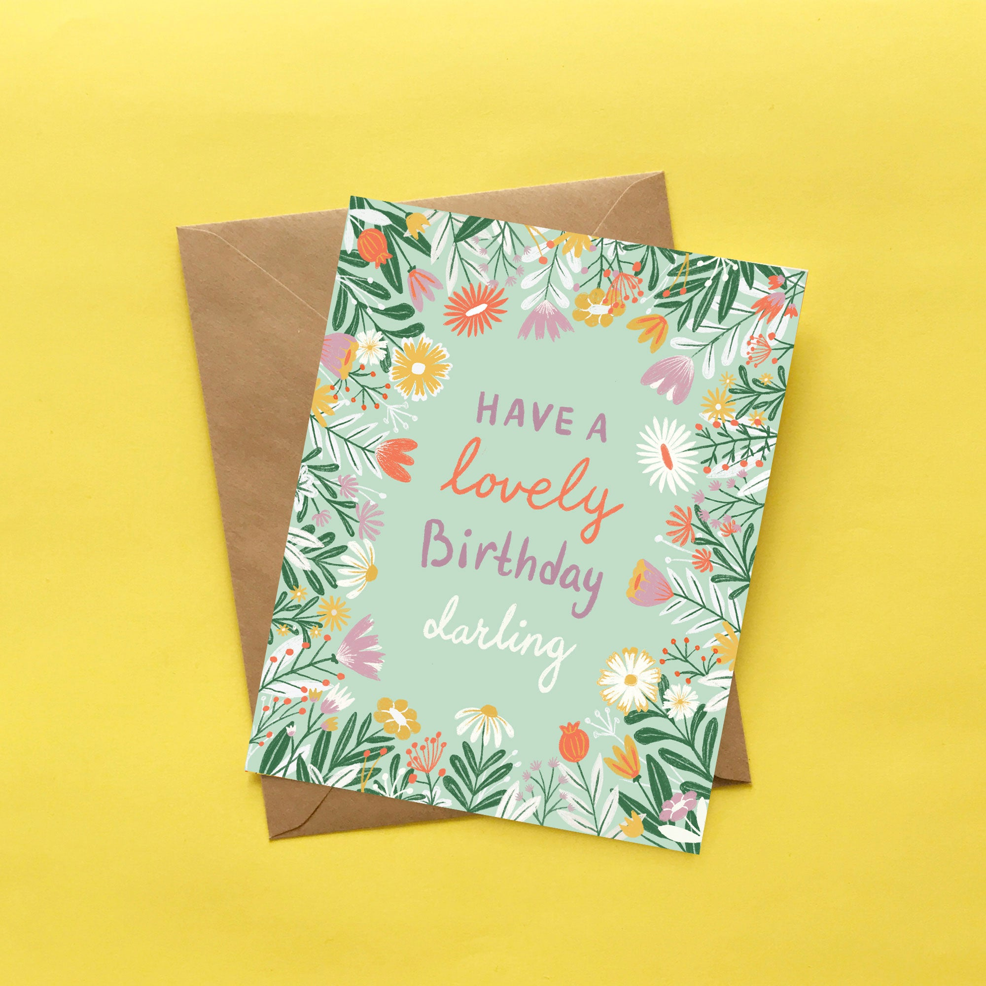 Lovely Birthday Florals Card