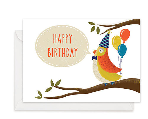 Funky Bird - Birthday Card