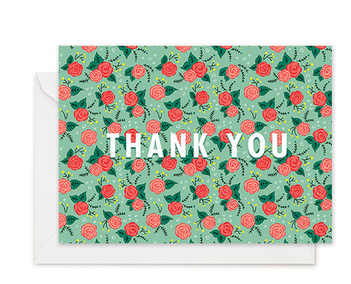 Roses - Thank You Card