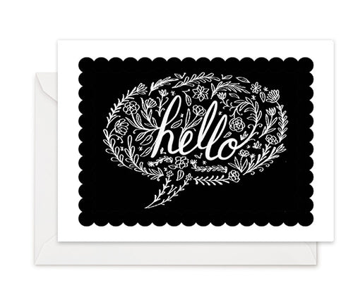 Hello Bubble - Greeting Card