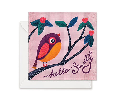 Sweety Bird - Greeting Card