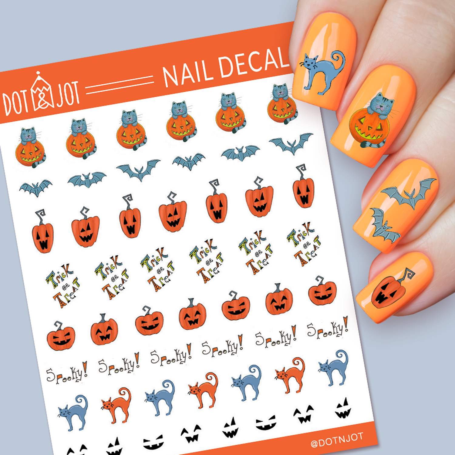 Halloween Waterslide Nail Decals